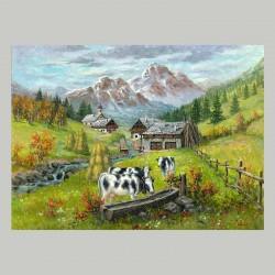Tableau Imprimé Vaches